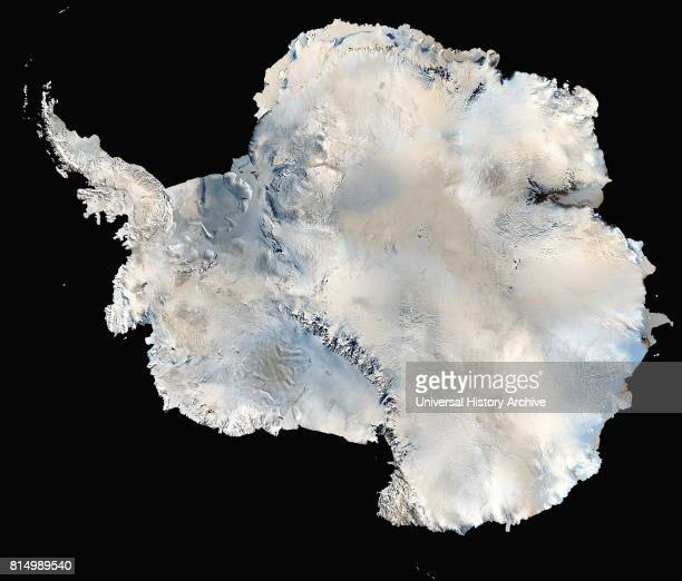Continental ice sheet Antarctica in 1996 showing the Antarctic ice sheet
