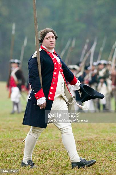 Continental officer at pass and review at the 225th Anniversary of the Victory at Yorktown a reenactment of the siege of Yorktown where General...