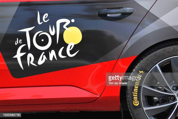 Continental tire / Detail view / TDF car / during the 105th Tour de France 2018 / Stage 10 a 158,5km stage from Annecy to Le Grand-Bornand 943m on...