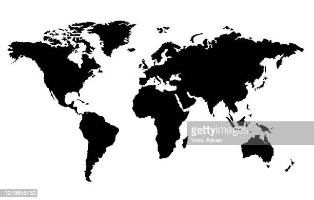 continents world map background - world map stock pictures, royalty-free photos & images