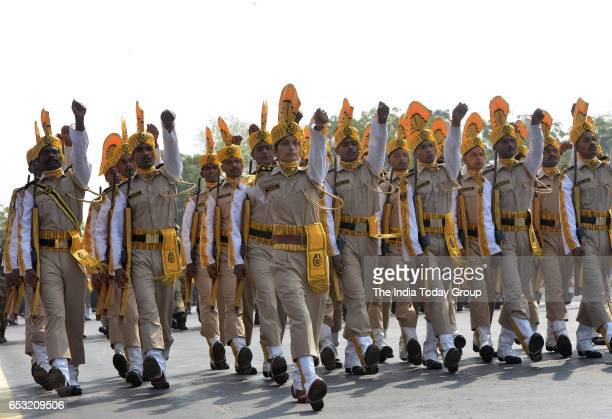 CISF contingent during the 48th CISF Day Parade in Ghaziabad Uttar Pradesh