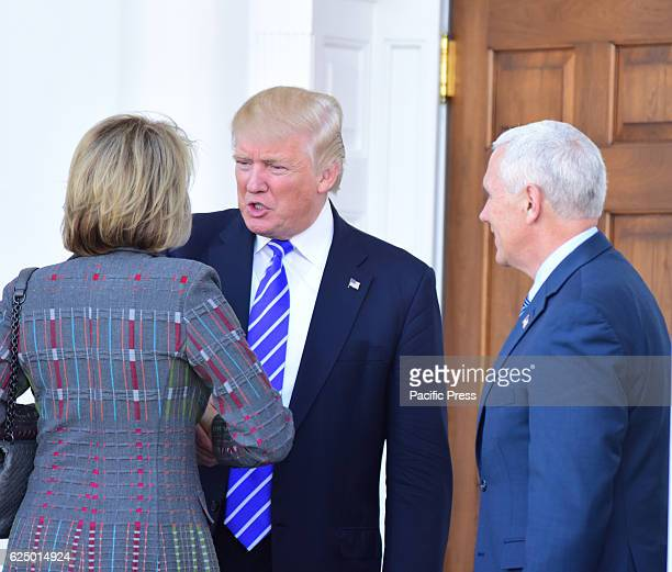 Continuing a day of oneonone meetings with candidates for positions in his cabinet Presidentelect Donald Trump and Vice President Mike Pence met with...