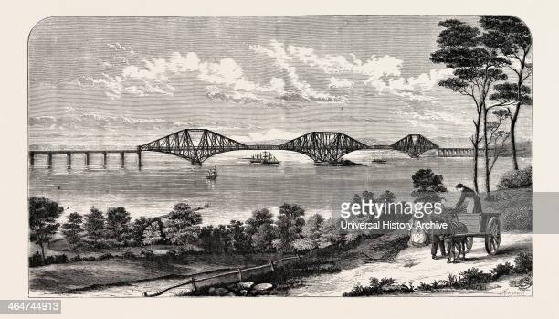 Continuous Steel Girder Bridge To Cross The Firth Of Forth Designed By Mr John Fowler And Benjamin Baker UK 1882