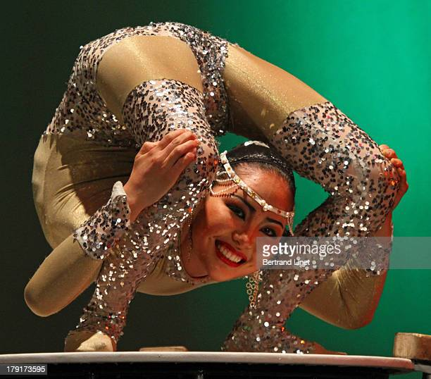 CONTENT] A contortionist during a cultural show in Ulaanbaatar in Mongolia