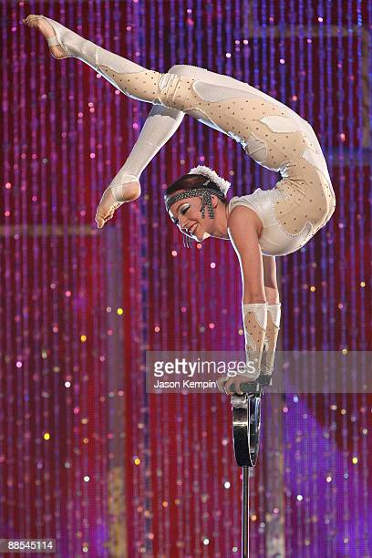 Contortionist Elayne Kramer performs on stage at Ellen's Bigger Longer Wider Show during TBS presents A Very Funny Festival Just For Laughs at the...