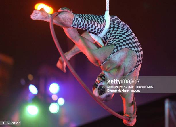 A contortionist performs at the opening of the Queen Maryu2019s Dark Harbor in Long Beach on Thursday Sep 26 2019