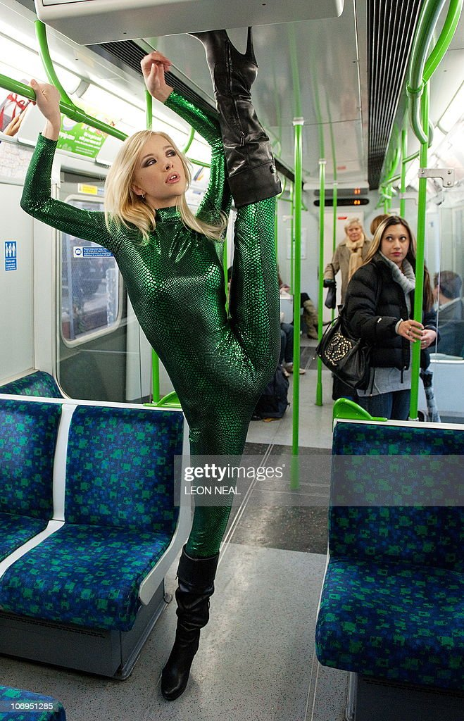 Contortionist Zlata From Kazakhstan, Poses On A London Underground -3244