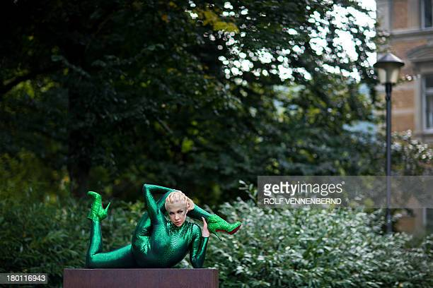 Contortionist Zlata Performs On September   In A Park In Bergischgladbach Western Germany To Promote