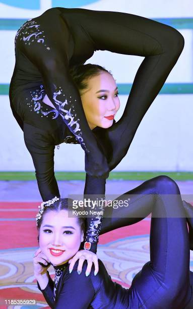 Contortionists perform in Ulaanbaatar on Oct 8 2018