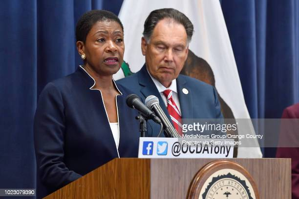 Contra Costa District Attorney Diana Becton during a press conference about the Golden State Killer in Santa Ana CA on Tuesday August 21 2018...