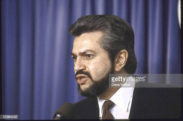 Contra leader Alfonso Robelo ath the White House