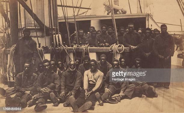 Contrabands Aboard U.S. Ship Vermont, Port Royal, South Carolina, 1861. Artist Henry P. Moore.