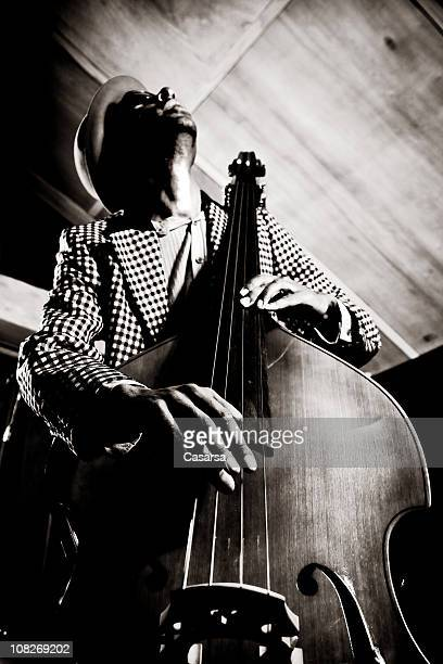 contrabassist - jazz music stock pictures, royalty-free photos & images