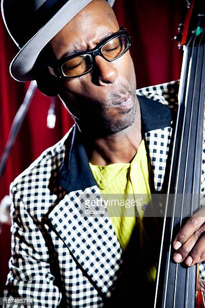 contrabassist - ska stock photos and pictures