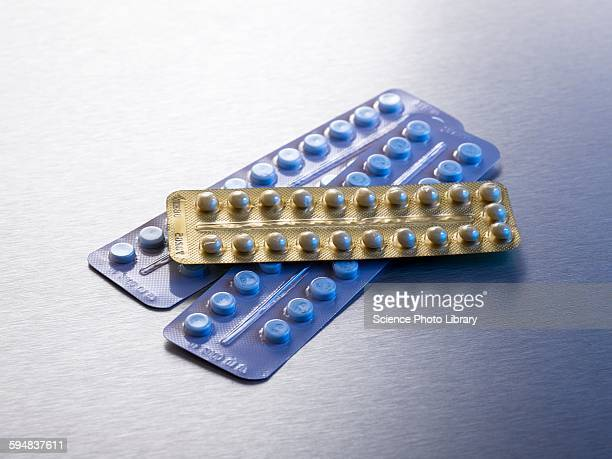 contraceptive pills in blister packs - birth control pill stock pictures, royalty-free photos & images