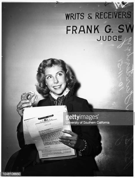 Contract approval 11 October 1951 Betsy Von Furstenberg