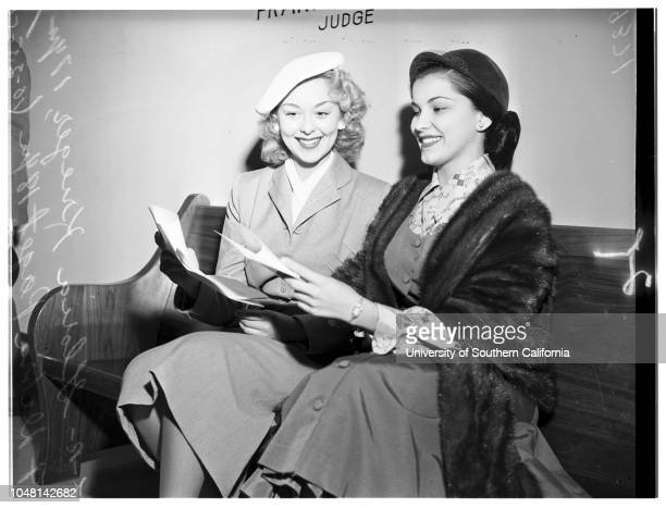 Contract approval, 25 October 1951. Gloria Krieger -- 17 years ;Debra Paget -- 18 years ..