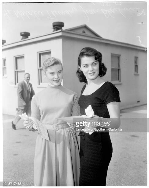 Contract approval January 25 1957 Natalie TrundyJoan BlackmanCaption slip reads 'Photographer Mitchell Date Reporter Keating Assignment Contract...