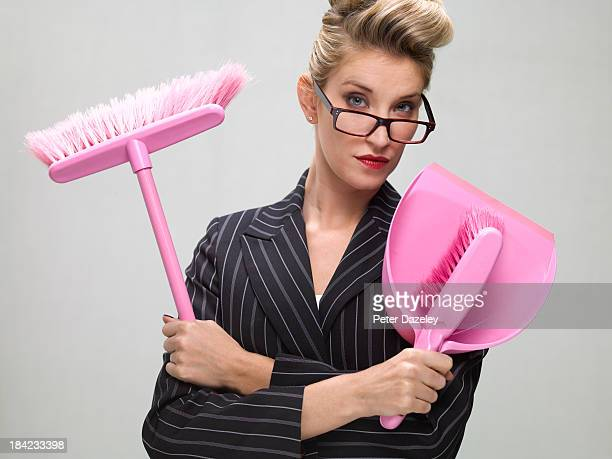 Contract cleaner businesswoman