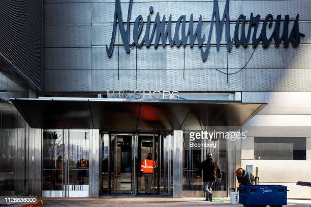 A contractor enters a Neiman Marcus Group Ltd store at the Hudson Yards development in New York US on Tuesday March 5 2019 Driving the $25 billion...