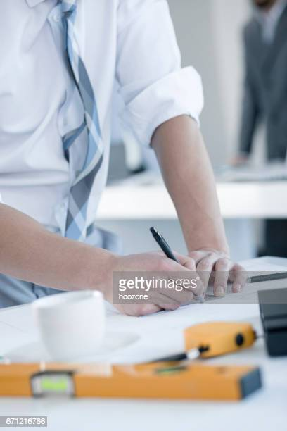 Contractor Signing Important Documents