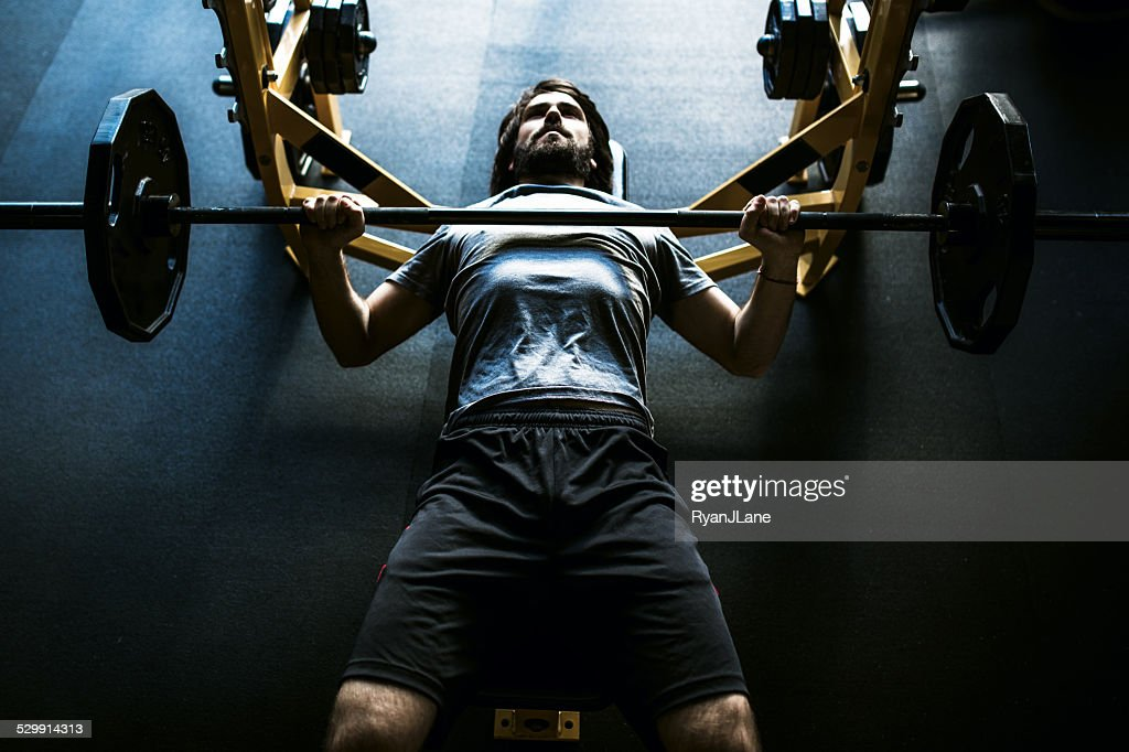 Contrast Man On Bench Press