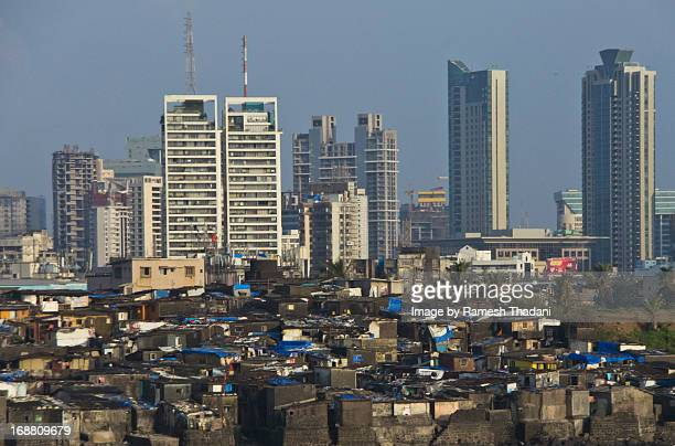 Contrasting Skyline of Bombay, near Koliwada