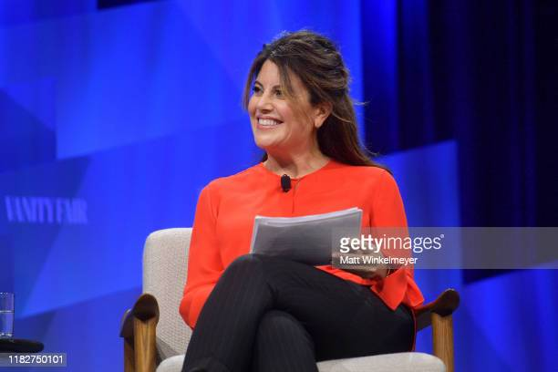 Contributing Editor at Vanity Fair Monica Lewinsky speaks onstage during 'Talkin' About Our Generation The Power of Recent History' at Vanity Fair's...