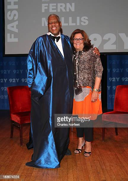 Contributing Editor at Vogue Magazine Andre Leon Talley and Fern Mallis attend the 92Y Presents Fern Mallis Interview Andre Leon Talley at 92nd...