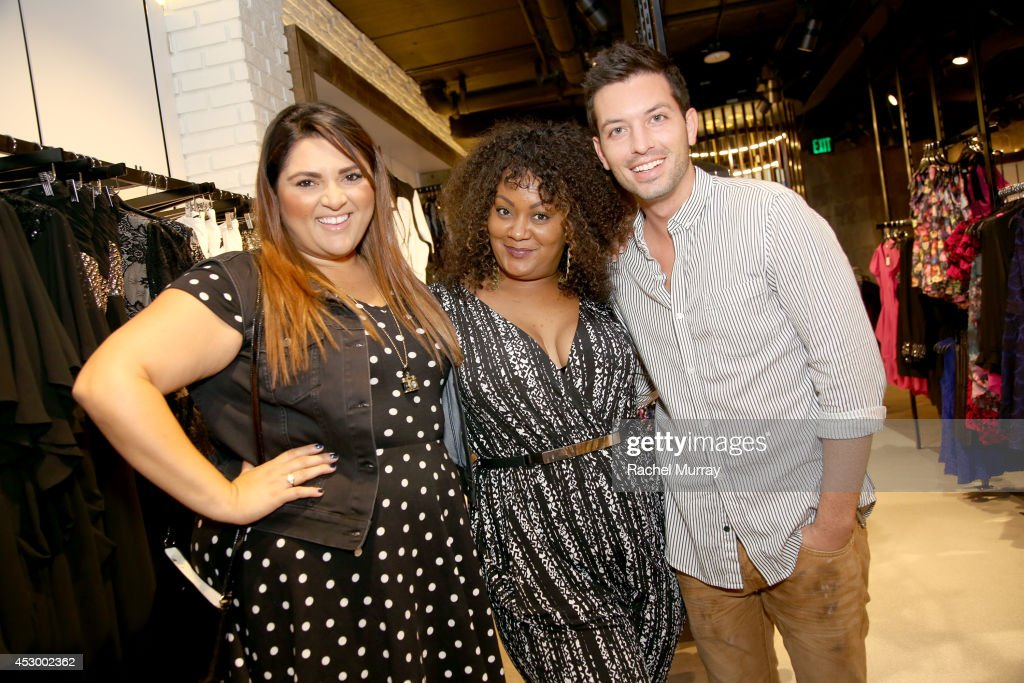 Contributing Editor Marie Claire/stylist Marcy Guevara, Host Marie Denee of TheCurvyFashionista.com, and celebrity stylist Daniel Musto attend the City Chic Exclusive Preview: First U.S Store Culver City at Westfield Culver City Shopping Mall on July 31, 2014 in Culver City, California.
