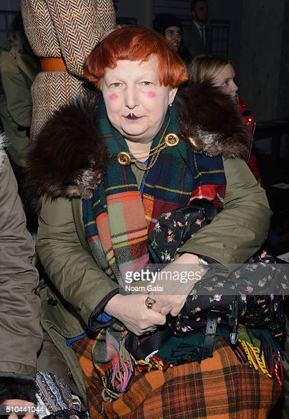 Contributing Fashion Editor to Vogue Lynn Yaeger attends the Thom Browne Fall 2016 fashion show during New York Fashion Week on February 15 2016 in...