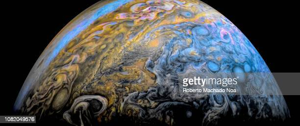 contributor's personal view of the jupiter planet - jupiter planet stock pictures, royalty-free photos & images