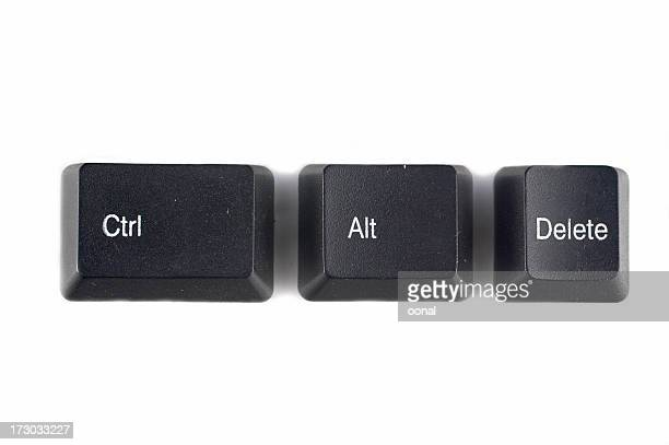 control alt del - computer key stock pictures, royalty-free photos & images