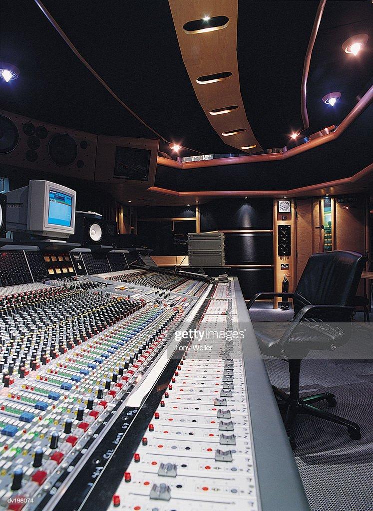 Control panel in studio : Stock Photo