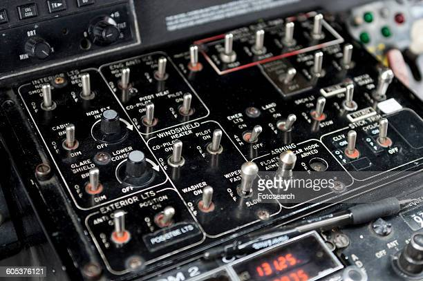 Control panel of a helicopter