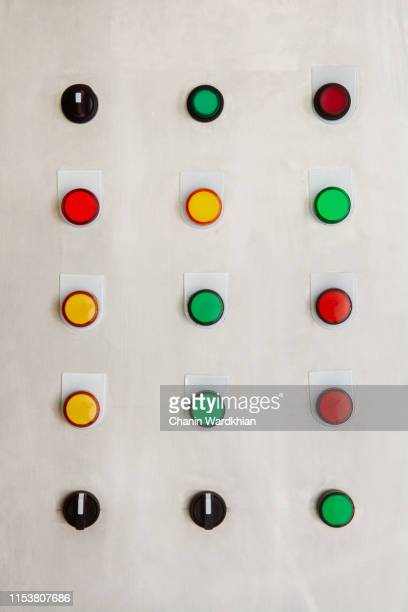 control panel of an automatic machine in the manufacturing factory - control panel stock pictures, royalty-free photos & images