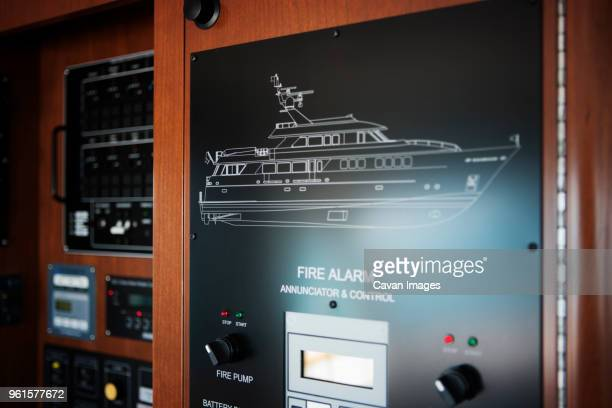 Control panel of yacht