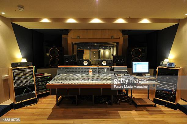 Control room at SNAP Studios taken on June 17 2010 in London