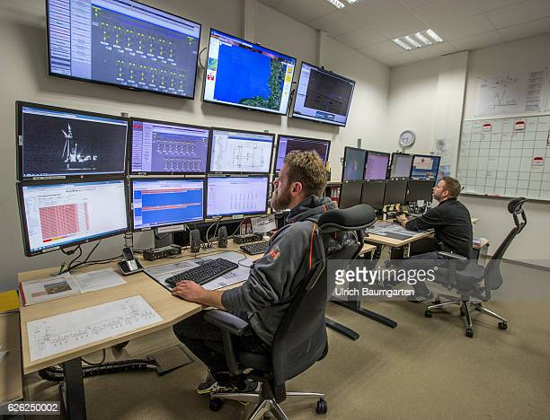 Control room of the wind park Amrumbank West of the EON SE on Heligoland