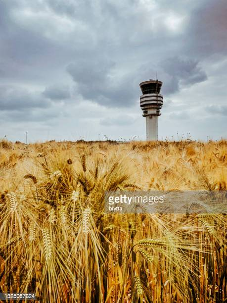 control tower at brussels airport,belgium - capital region stock pictures, royalty-free photos & images