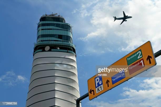 Control Tower at International Vienna Airport