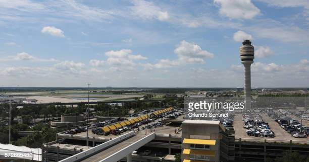 Control tower of the Orlando International Airport on June 27 2017 An exploding camera battery on Friday Nov 10 caused some travelers to flee but...