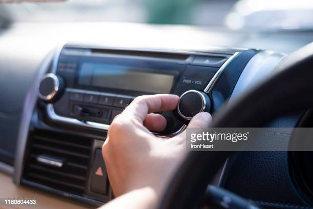 control volume in the car. - radio stock pictures, royalty-free photos & images