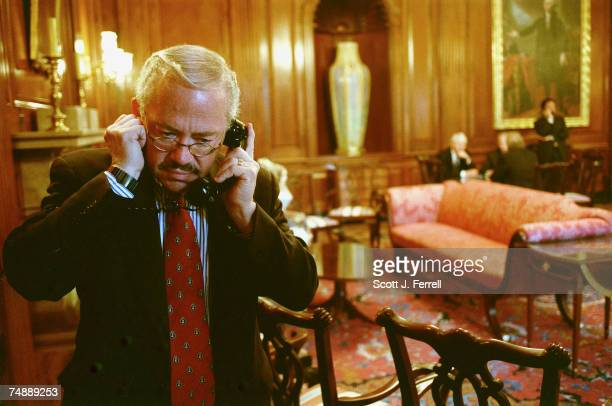 CONTROLBob Barr RGa talks on the phone in the Rayburn Room just off the House floor after an amendment vote
