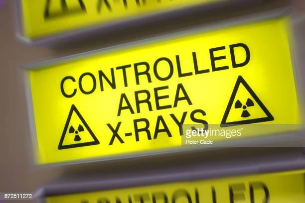 Controlled area x-rays sign