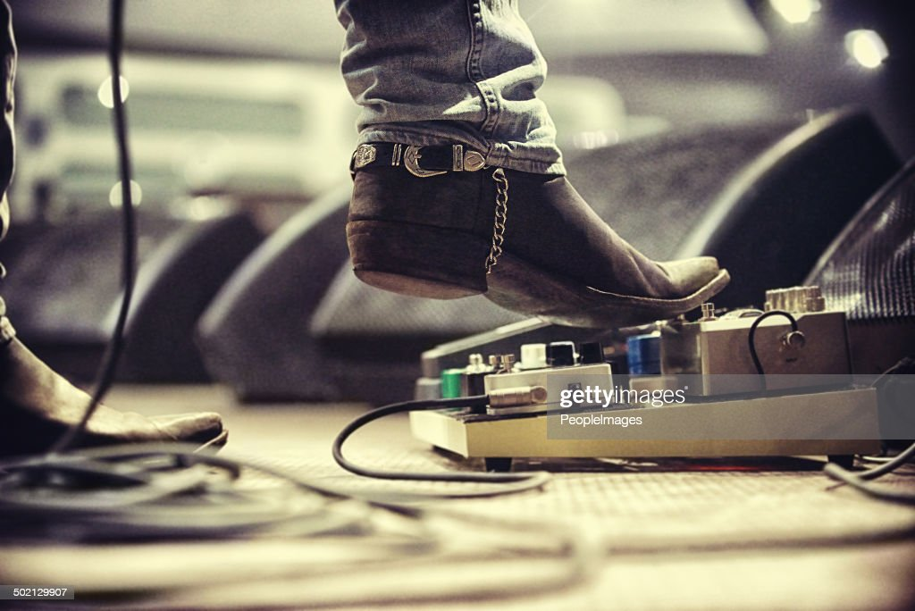 Controlling the music : Stock Photo