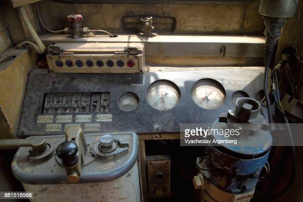 controls of burma railway train - argenberg stock pictures, royalty-free photos & images