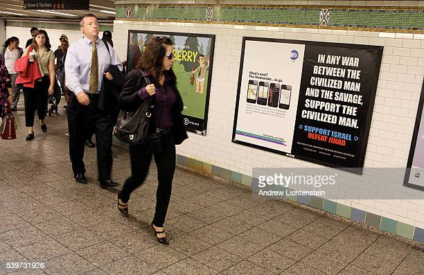A controversial advertising poster that many people view as advocating hatred towards Islam and muslims has appeared in the New York City subways On...