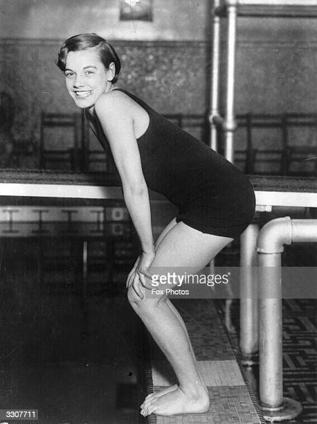 Controversial American swimmer Eleanor Holm winner of the 100 metres backstroke at the 1932 Los Angeles Olympics
