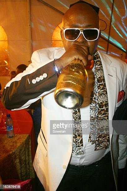 Controversial businessman Kenny Kunene celebrates his 42nd birthday at the Bahamas Night Club on October 23 2012 in Springs Johannesburg South Africa